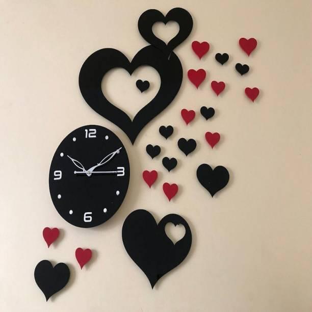 R&P ENTERPRISE Analog 65 cm X 35 cm Wall Clock