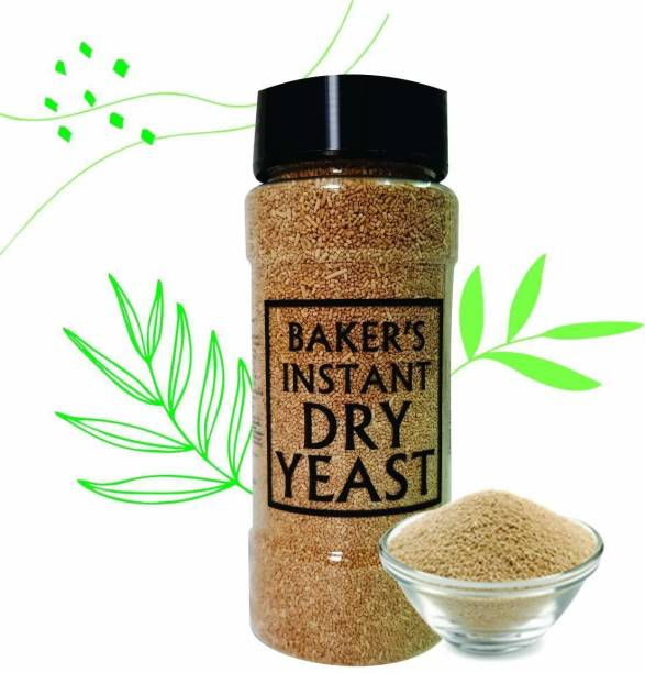 Bake King Grade A Quality 160gm- Active Instant Dry Yeast 160gm Yeast for Pizza Base Pantry, Baking Bread and Cake, Khamir Powder 160gm Yeast Powder