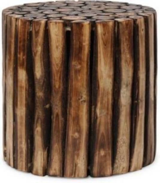 Wood Master Sre Wooden Round Shape Stool|Table|Bedside Table|Wooden Stool|Coffee Table for Living Room Furniture | Garden Stool | Outdoor Furniture | Pre-Assemble - 12 Inches Solid Wood End Table (Finish Color - BROWN, Pre-assembled) Solid Wood Bar Stool