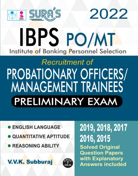 SURA`S IBPS Bank CRP X PO Probationary Officers and Management Trainees Preliminary Exam Book in English - LATEST EDITION 2022