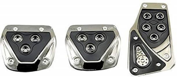 JAINFAM 3 Pcs Sports Anti-Skid Car Pedals (Manual Shift) kit Pad Covers Set (Black) Car Pedal