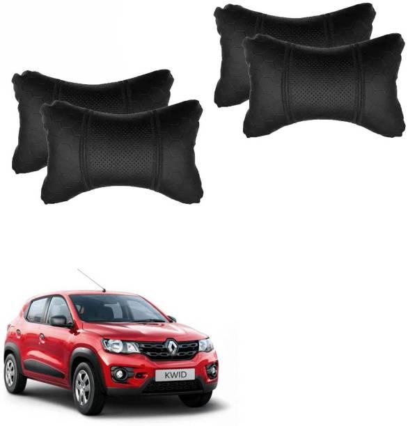 AdroitZ Black Leatherite Car Pillow Cushion for Renault
