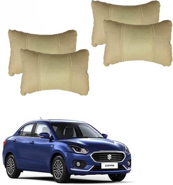 AdroitZ Beige Leatherite Car Pillow Cushion for Maruti Suzuki