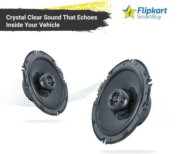 Flipkart SmartBuy Extra Bass F2 3 Way 6'' Inch 80W RMS 330W Extra Bass Series Coaxial Car Speaker, Set of 2 Coaxial Car Speaker
