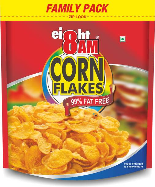 8AM by V.R. Industries (P) Ltd. Corn Flakes family pack 1kg