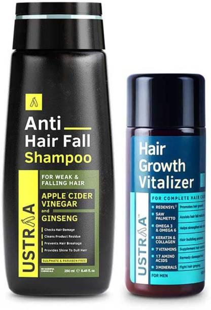 USTRAA Hair Growth Vitalizer - 100ml & Anti Hair Fall Shampoo - 250ml