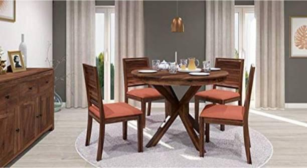 Shree Jeen Mata Enterprises Solid Wood 4 Seater Dining Set