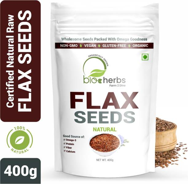 Bioherbs Certified Raw Flax Seed-Healthy Seeds, Rich in Omega 3 Fatty Acid