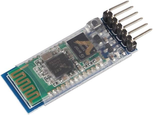 SS ROBOTICS HC-05 Wireless Bluetooth RF Transceiver Master Slave Integrated Bluetooth Module 6 Pin Wireless Serial Port Communication BT Module for Arduino Educational Electronic Hobby Kit