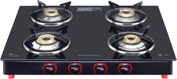 Suryaflame 4B Smart MS NA (ISI MARKED CE MARKED) and Doorstep Service Steel Manual Gas Stove