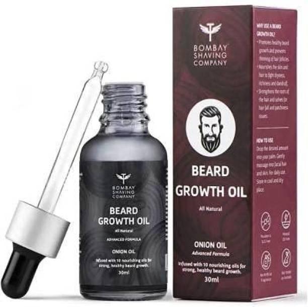 BOMBAY SHAVING COMPANY Company Natural Onion Beard Oil For Stimulating Healthy & Fast Beard Growth Hair Oil