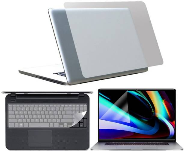 SDM 3 in 1 Combo 15.6 Inch 3m Laptop Skin, Screen Guard, Key Protector Combo Set (Transparent) for all 15.6 inch laptop skin Combo Set
