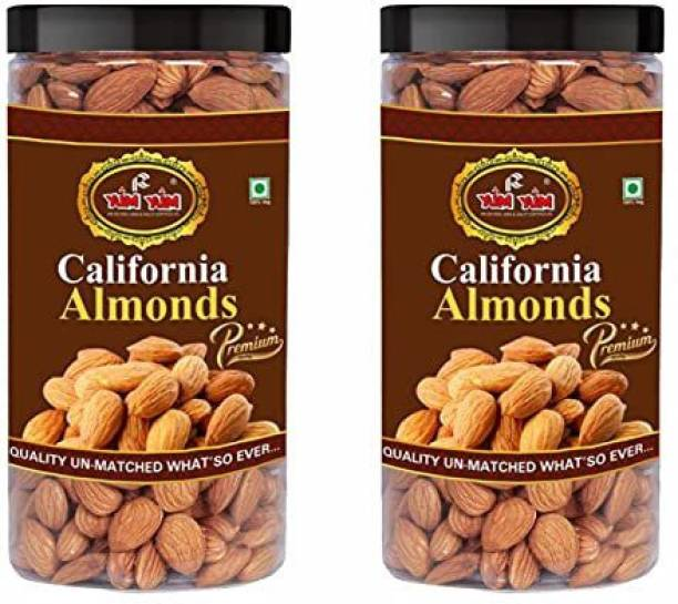 YUM YUM Premium California Almond Badam 1kg Almonds
