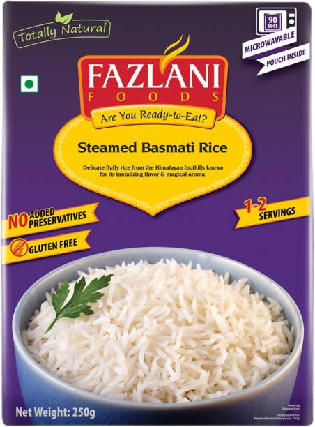FAZLANI FOODS Ready to Eat Steamed Basmati Rice , (Pack of 1, 250 gm) 250 g