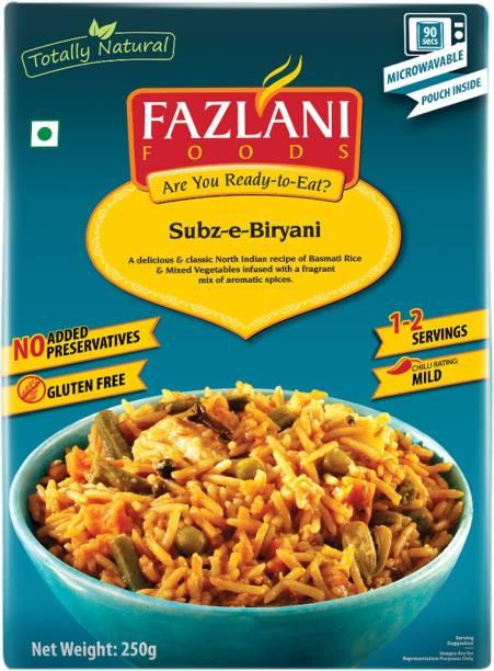 FAZLANI FOODS Biryani (Mixed Vegetable Basmati Rice) , (Pack of 1, 250 gm) 250 g