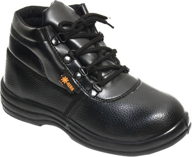 Ayoka Aera High Ankle Industrial construction Automotive construction manufacturing mining aviation logistics and transportation Safety Shoes With Steel Toe Synthetic Leather Safety Shoe (, S1) Steel Toe Synthetic Leather Safety Shoe