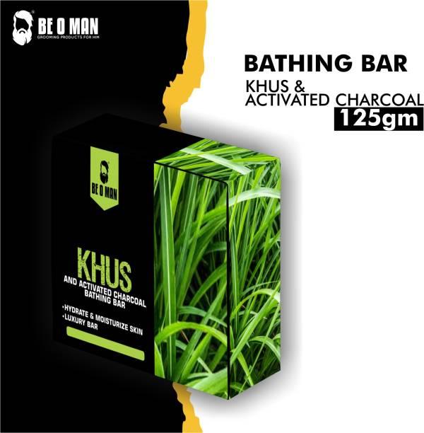 Be O Man Bathing Bar – Khus & Activated Charcoal