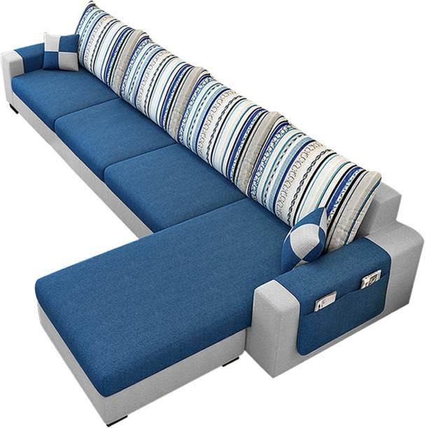 CasaStyle Adona RHS L Shape Fabric 5 Seater  Sofa