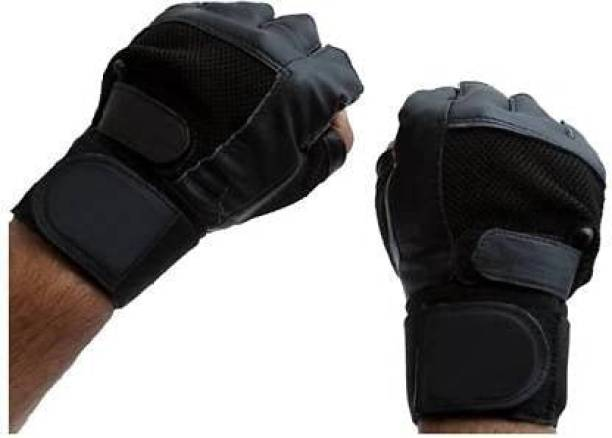 RAJPUT Gym Gloves Support for Workout & Fitness Gym & Fitness Gloves (Black) Gym & Fitness Gloves