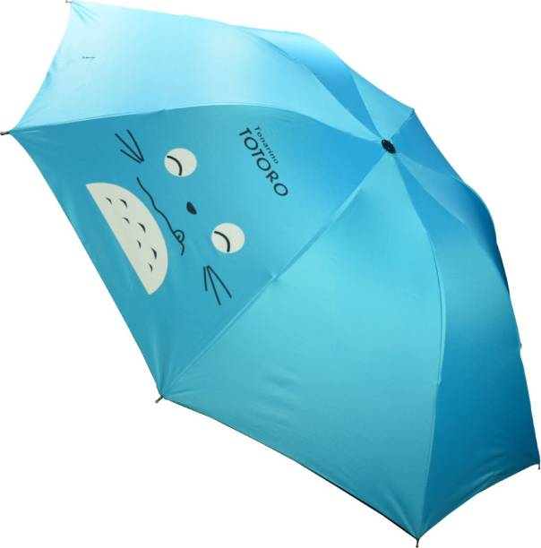 KEKEMI UMB021_07 UMB016F 3 Fold Print Windproof Rain Travel Umbrella