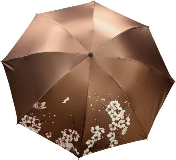 KEKEMI UMB020_03 UMB016F 3 Fold Print Windproof Rain Travel Umbrella