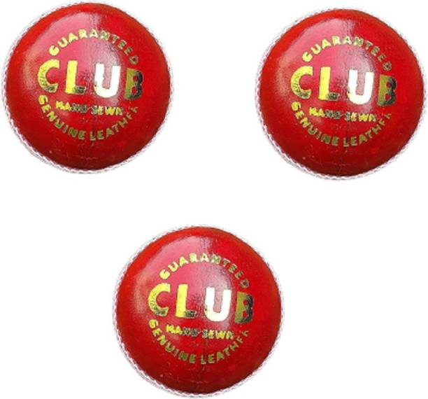 AGGIENext Leather Red Ball Cricket Leather Ball