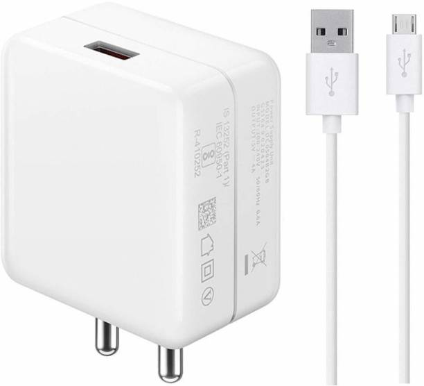 Tankit 3.1 Ampere Fast Dash QC Charger Qualcomm QC 3.0 Quick Charge Adaptive Fast Charging, Rapid, Dash, VOOC, AFC Charger, Dual engine Fast Charging Super-Fast iOS & Android Devices 3 A Mobile Charger with Detachable Cable