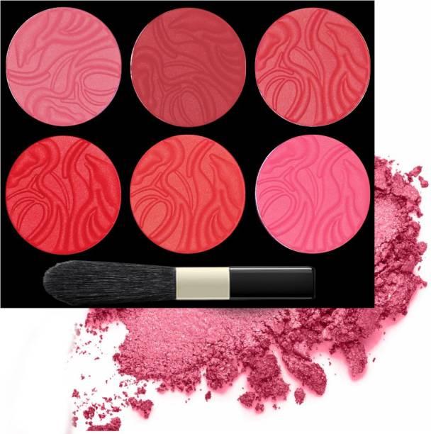 VARS LONDON Matte blusher | matte finish blusher | highly pigmented matte blusher | face blusher | blusher and contour combo palette