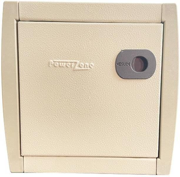 POWERZONE 8 way SPN (Single Phase) Double Door Metal MCB Box - DB Distribution Board