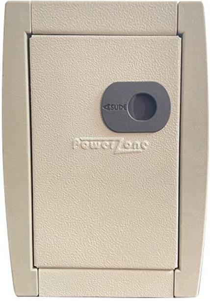 POWERZONE 4 way (Single Phase) Double Door Metal MCB Box - DB Distribution Board