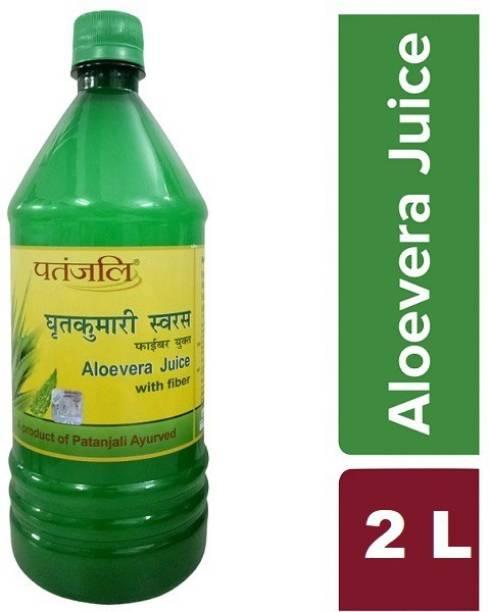 PATANJALI Aloe Vera Juice with Fiber (1L X 2L)