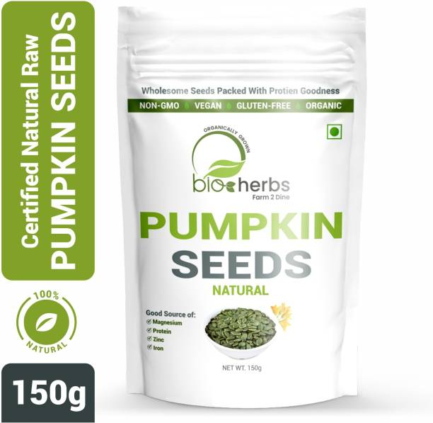 Bioherbs Certified Raw Pumpkin Seeds, AAA Grade Seeds, High in Protein