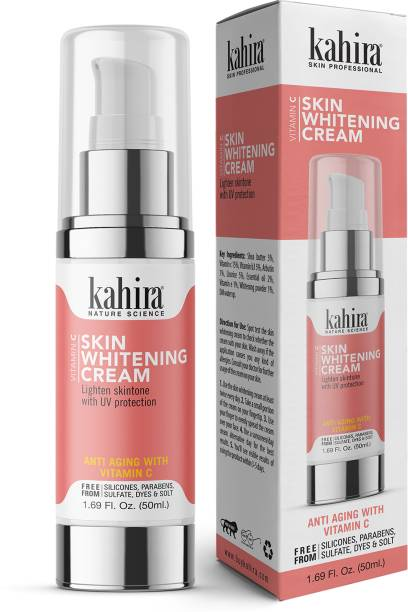Kahira Vitamin C Skin Whitening Cream Lighten Skintone With UV Protection Anti Aging With Vitamin - C FREE FROM Silicones, Parabens, Sulfate, Dyes & Solt