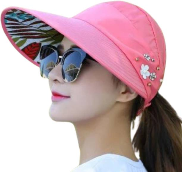 FabSeasons Sun Visor Hats Women Large Brim Summer UV Protection Beach Cap