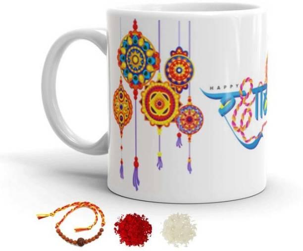 OWN PASKO Mug, Rakhi, Chawal Roli Pack  Set