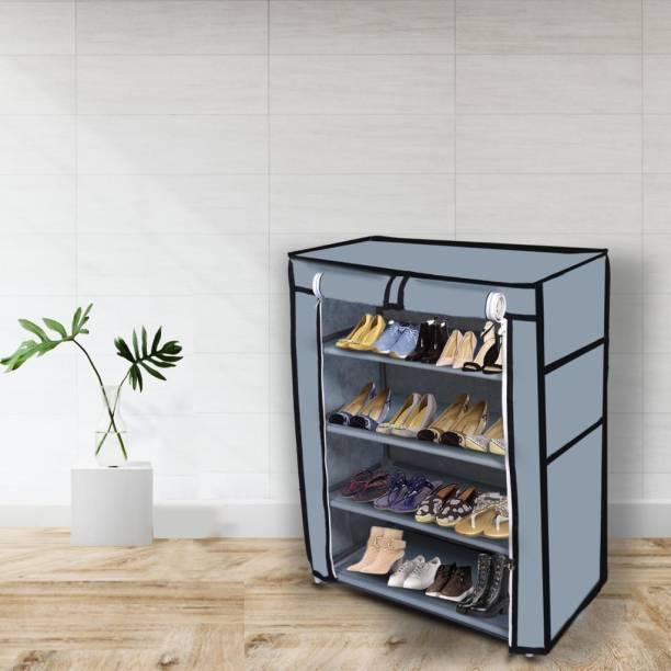 GlowSilk Multipurpose Racks Metal Collapsible Shoe Stand