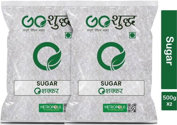 Goshudh Premium Quality White Sugar pack of 2 500g each Sugar