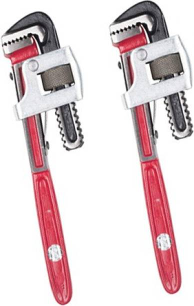 manvi Flex Heavy Duty 14 Inch Pipe Wrench Set of 2 Single Sided Pipe Wrench