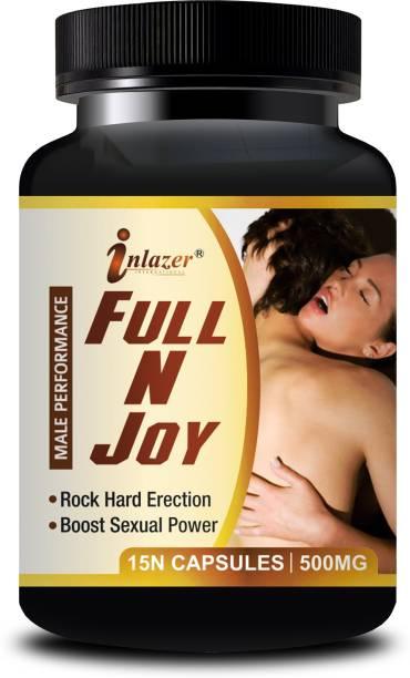 inlazer Full N Joy Capsules And Man On Oil For Men Long Time Sex Power 100% Ayurvedic