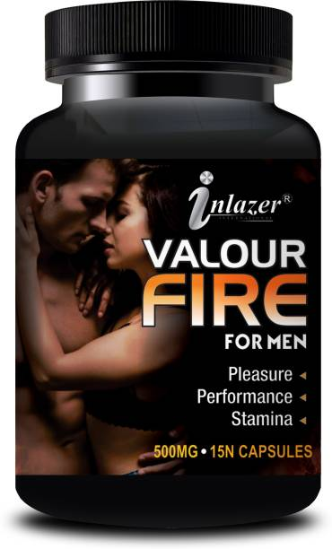 inlazer Valour Fire Capsules For Helps In Uplift Energy & Sex Drive/Increases Penis Size 100% Ayurvedic