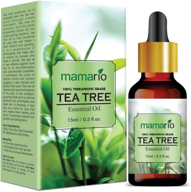 Mamario Tea Tree Essential Oil - 100% Pure, All Natural & Undiluted- Therapeutic Grade