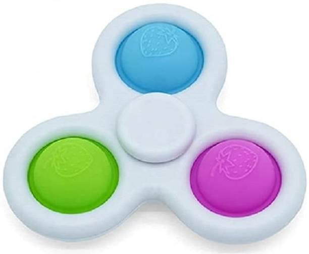 VIBOTON Pop It Fidget Toy Cum Fidget Spinner ,Push Pop Bubble Fidget Sensory Toy, Autism Special Needs Silicone Stress Relief Toy, Fidget Toy Sensory Toys Novelty Gifts Bath Toy