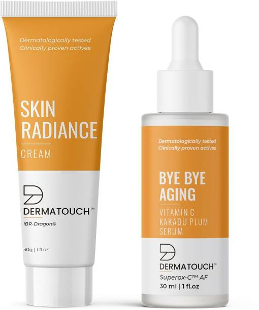 Dermatouch Skin Radiance Cream & Aging Vitamin C Face Serum Combo || Suitable For All Skin Types - Pack of 2
