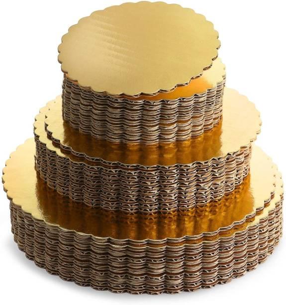 MOONBELL Round Cake Base Gold Paper Cake Server