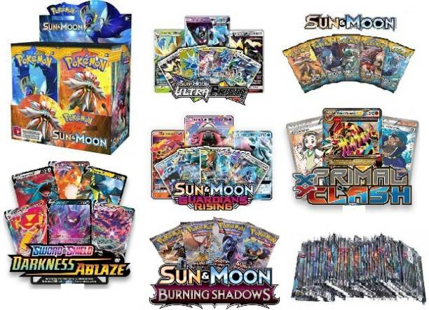 Bestie Toys Pokemon Cards Basic Ex Gx Booster Cards Mix Edition Cards (20 Pack)