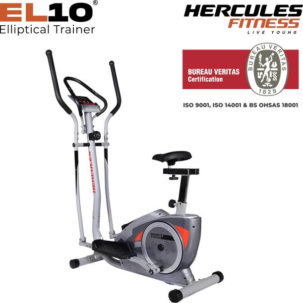 Hercules Fitness Seated Cross Trainer Elliptical for home use, Home Gym cardio Cross Trainer