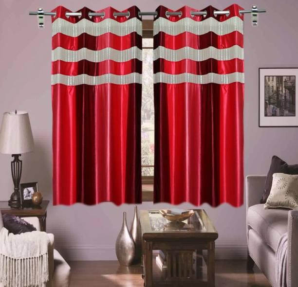 Shavi treders CURTAINS PACKS OF 2 LITE FABRIC DEGINE Size 5 Feet IN MID CURTAINS Curtain Fabric