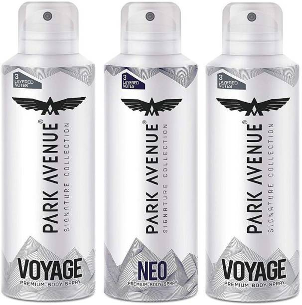 PARK AVENUE Signature Deo Collection For Men Combo Pack of 3 (140ml x 3) Brand New Pack Deodorant Spray  -  For Men