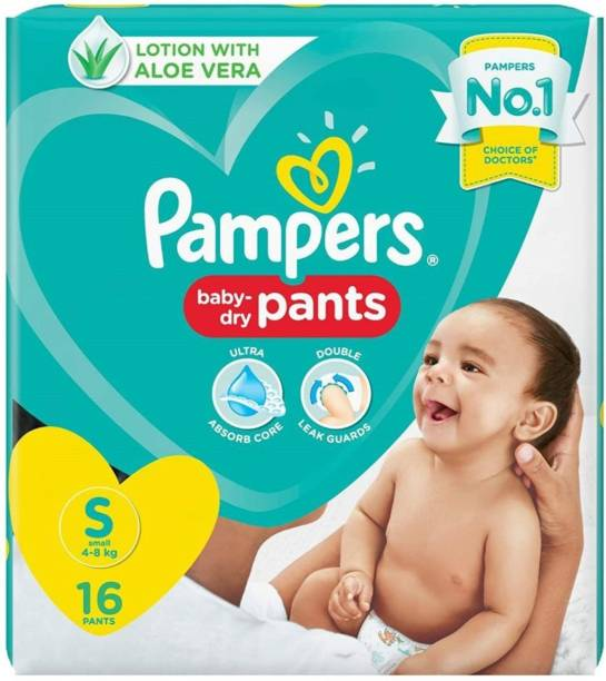 Pampers Baby Diapers pants S 16 - S