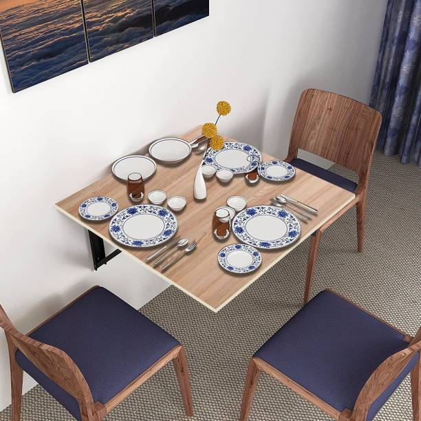 KAWACHI 3 Seater Wall Mount Folding Breakfast Dining Table Perfect Addition to Kitchen & Dining Room Engineered Wood 2 Seater Dining Table